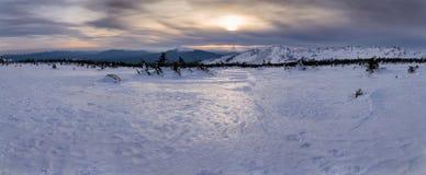 De winterlandschap met rand Royalty-vrije Stock Foto