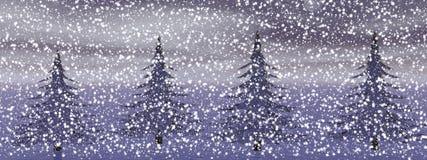 De winterlandschap in noordwesten stock illustratie