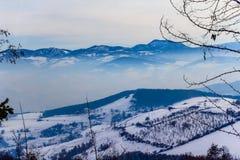 De winterlandschap in Novi Pazar, Servië Royalty-vrije Stock Foto's