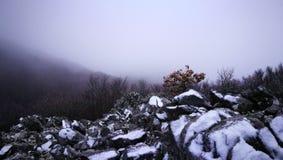 De winterlandschap in Sicilië Stock Afbeelding