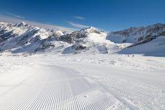 De winterlandschap in Stubai, Oostenrijk Royalty-vrije Stock Fotografie