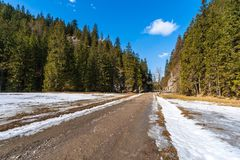 De winterlandschap in Tatras royalty-vrije stock afbeelding