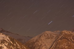 De winterlandschap van alpen Royalty-vrije Stock Afbeeldingen