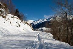 De winterlandschap van de Alpen van Zwitserland Royalty-vrije Stock Foto's