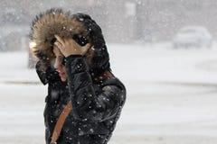 2017 de winterlandschap van de de Wintersneeuw Royalty-vrije Stock Afbeeldingen