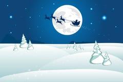 De winterlandschap van Kerstmis Stock Foto's