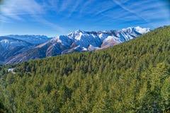 de winterlandschap van de Pindus-bergketen Royalty-vrije Stock Foto