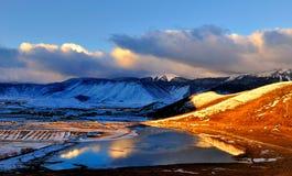 De winterlandschap van shangri-La Stock Foto