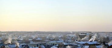 De winterlandschap van Siberië Royalty-vrije Stock Fotografie