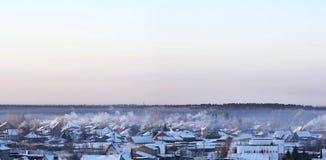 De winterlandschap van Siberië Royalty-vrije Stock Foto's