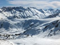 De winterlandschap van Todorka-piek, Bulgarije Stock Foto