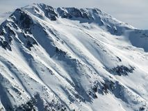De winterlandschap van Todorka-piek, Bulgarije Stock Afbeeldingen