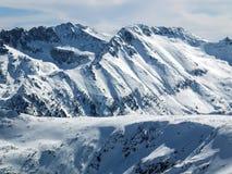 De winterlandschap van Todorka-piek, Bulgarije Stock Foto's