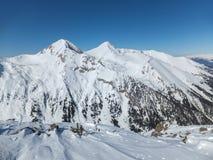 De winterlandschap van Todorka-piek, Bulgarije Royalty-vrije Stock Afbeeldingen