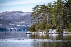 De winterlandschap van Vermont royalty-vrije stock foto