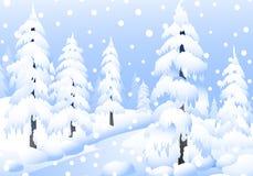 De winterlandschap - Vector Vector Illustratie