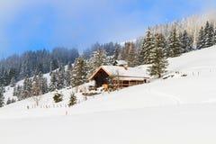 De winterlandschap in Zwitserland royalty-vrije stock afbeeldingen