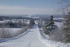 De winterlandweg Royalty-vrije Stock Fotografie