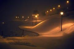 De winterlichten Royalty-vrije Stock Foto's