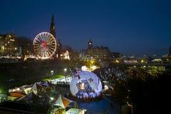 De wintermarkt van Edinburgh royalty-vrije stock afbeelding