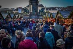 De wintermarkt van Wenen Stock Foto