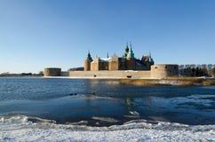 De wintermening bij Kalmar-Kasteel in Zweden Royalty-vrije Stock Afbeelding