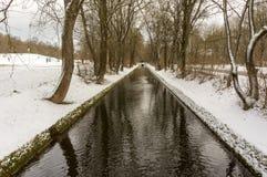 De wintermening in Olympiapark München Munchen Duitsland Stock Fotografie