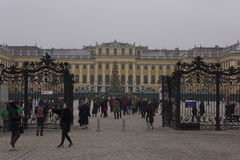 De wintermening van de ingangspoort van Schonbrunn-Paleis Royalty-vrije Stock Foto's