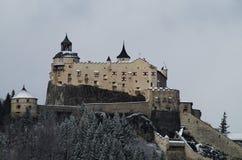 De wintermening van het Kasteel van Hohenwerfen Festung Hohenwerfen Stock Afbeelding