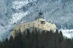 De wintermening van het Kasteel van Hohenwerfen Festung Hohenwerfen Stock Foto