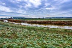 De wintermening van de Rivier Rother in Kent, Engeland royalty-vrije stock foto's