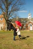 De winterminnaars in Caumsett-Park Stock Fotografie