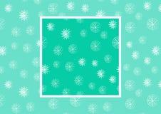 De wintermotieven, sneeuwvlokken naadloos patroon Sneeuwvlokken op blauwe hemel - Kerstmis naadloze achtergrond Naadloze vector Stock Fotografie