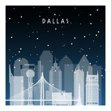 De winternacht in Dallas vector illustratie