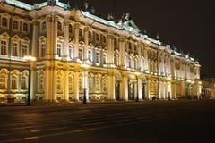 De winternacht in de stad Royalty-vrije Stock Foto
