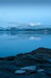 De winterochtend die het westen bij koningincharlotte stad, het Slapen Bea onder ogen zien Royalty-vrije Stock Foto