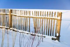 De winteromheining Stock Afbeeldingen