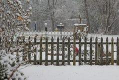 De winteromheining Stock Fotografie