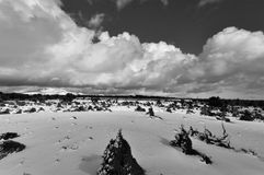 De winteronweerswolken stock foto