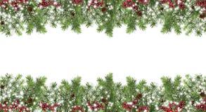 De winterornamenten van natuurlijke materialen Kerstboom, kegels, Stock Afbeelding