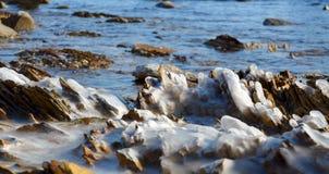 De winteroverzees stock foto's