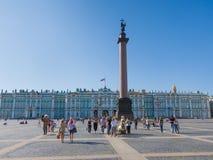 De winterpaleis en Paleisvierkant, St. Petersburg, Rusland Stock Foto