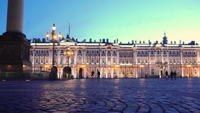 De Winterpaleis van St. Petersburg ` s stock footage