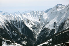 De Winterpanorama van alpen Stock Foto's