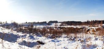 De winterpanorma van Liberec-weg royalty-vrije stock foto's