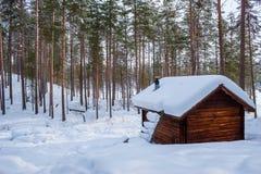 De winterplattelandshuisje Royalty-vrije Stock Foto