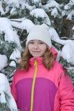 De winterportret in bont-bomen Royalty-vrije Stock Afbeelding