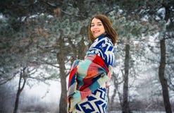 De winterportret van het charmeren van meisje Royalty-vrije Stock Fotografie