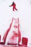 De winterpret Stock Foto