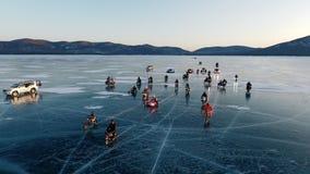 De winterras van Baikal stock footage